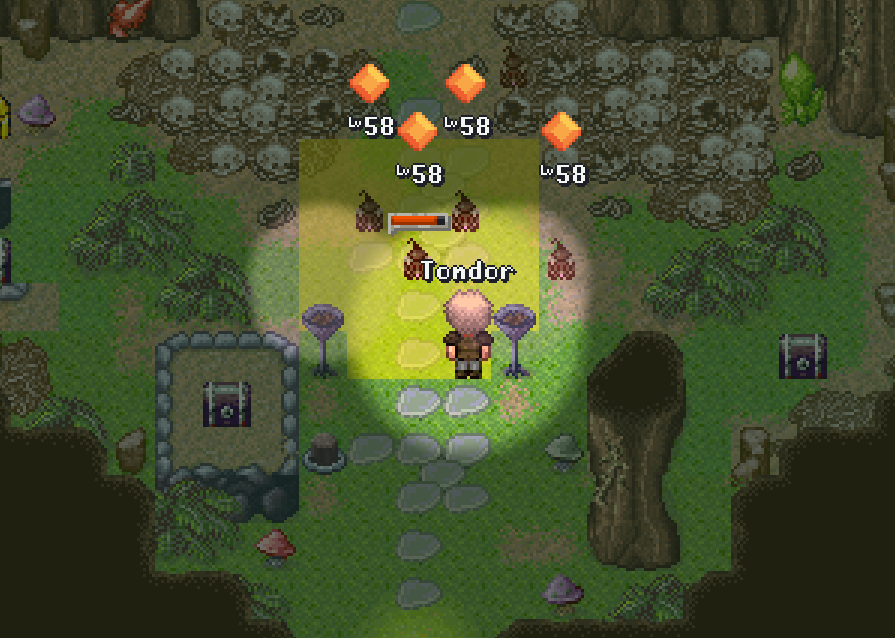 RPG Rat monsters see the player and are about to attack